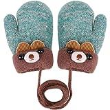 Enfant gants hiver Mitaine Fourrure Gants Fille Gants Chaud en Peluche  Moufles Epais Bébé Gants Moufle da29249492d