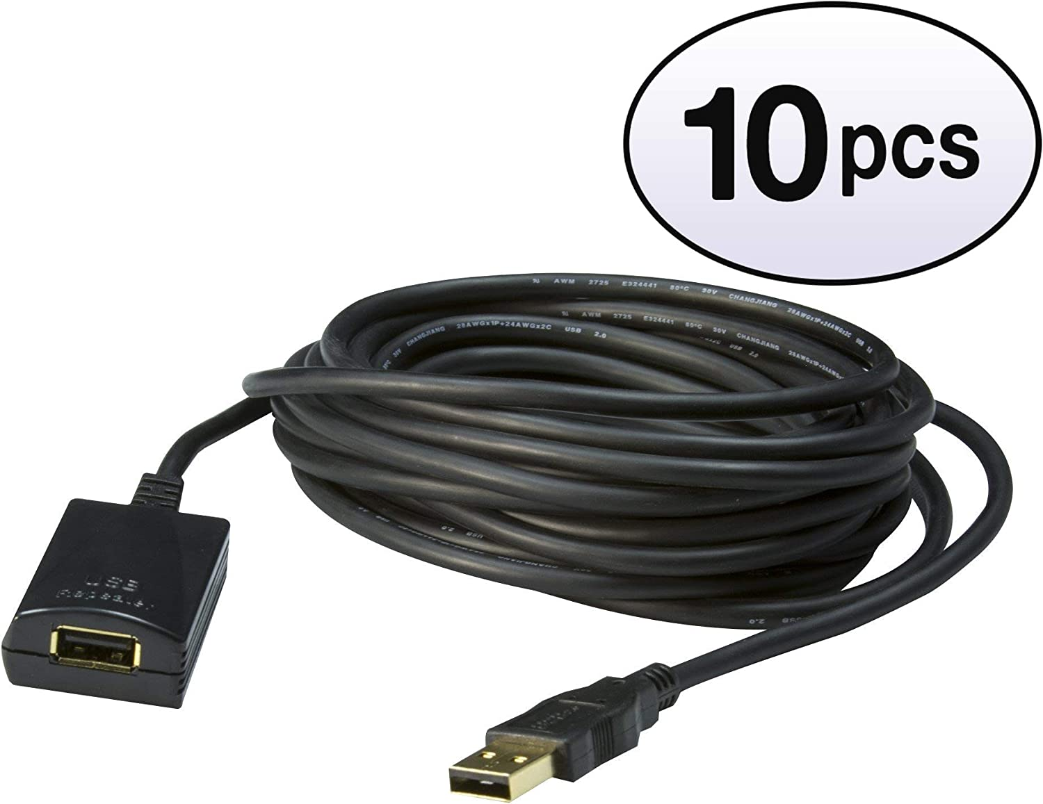 3 feet Type A Male to Type A Female Black USB 2.0 Extension Cable GOWOS 4 Pack