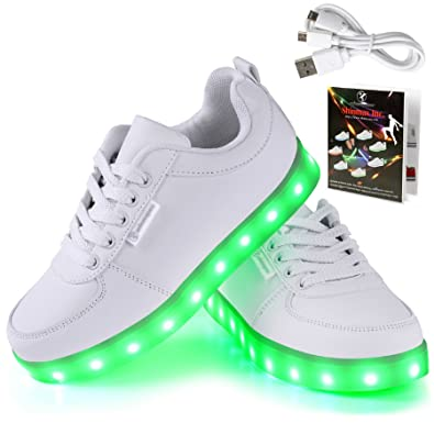 Shinmax LED Shoes 7 Colors Light up Shoes of Men Women with USB Chargable  for Valentine s ef5b8e0c1a56