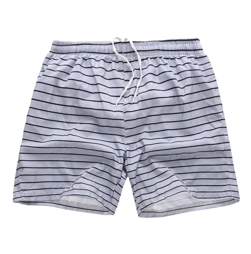 MADHERO Mens Swim Trunk Mesh Brief Swim Shorts with Pockets