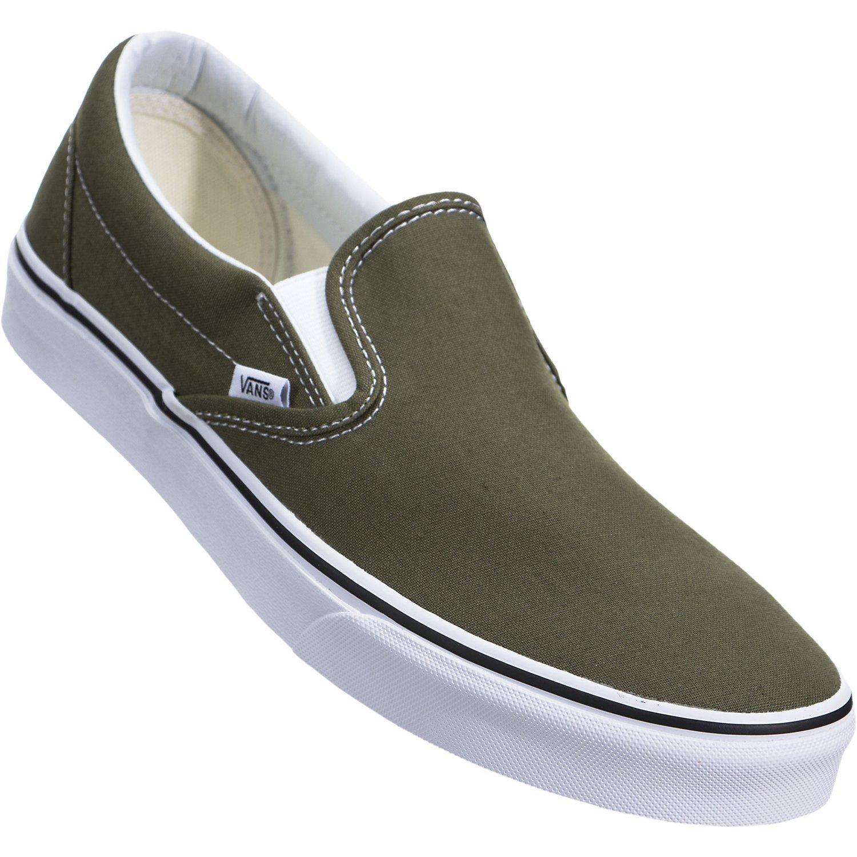 Vans ''Classic Slip-On Sneakers (Winter Moss/True White) Unisex Skate Shoes by Vans (Image #5)