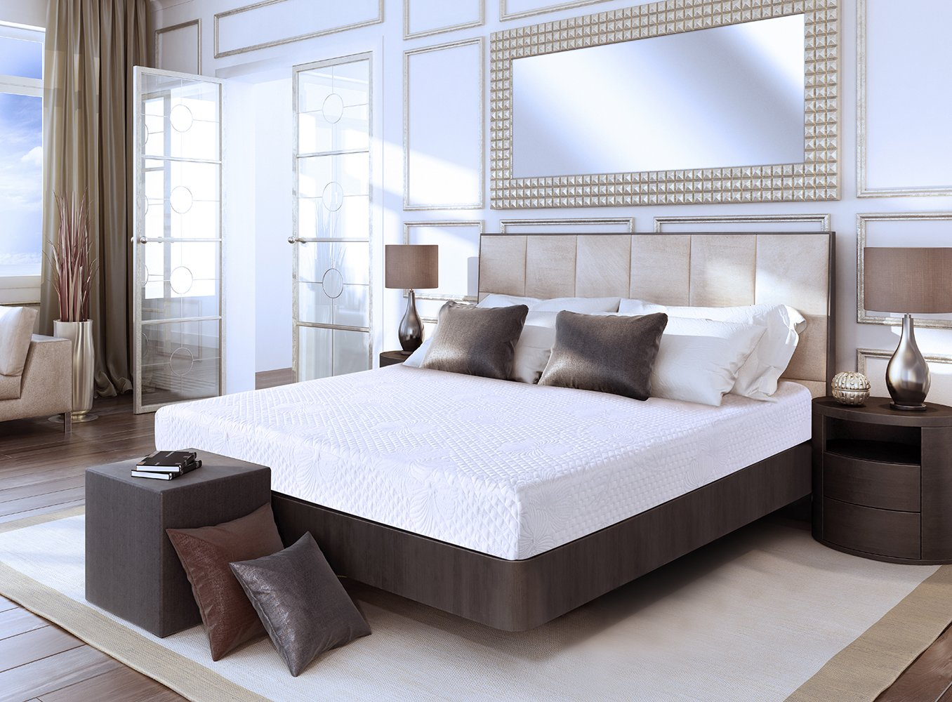 Amazon.com: Olee Sleep 8 Inch 4 Layer Air Ventilation Memory Foam ...
