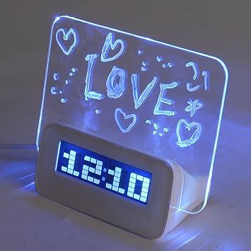 Baban - Reloj despertador electrónico con rotulador para ...