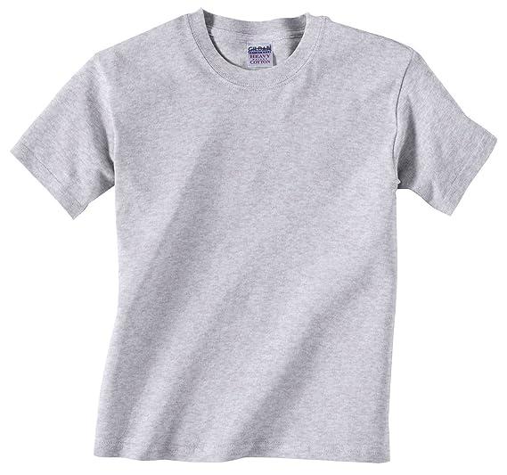 Gildan boys Heavy Cotton T-Shirt(G500B)-ASH GREY-XS