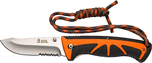 SOL Survival Stoke Folding Knife and Tinder Cord