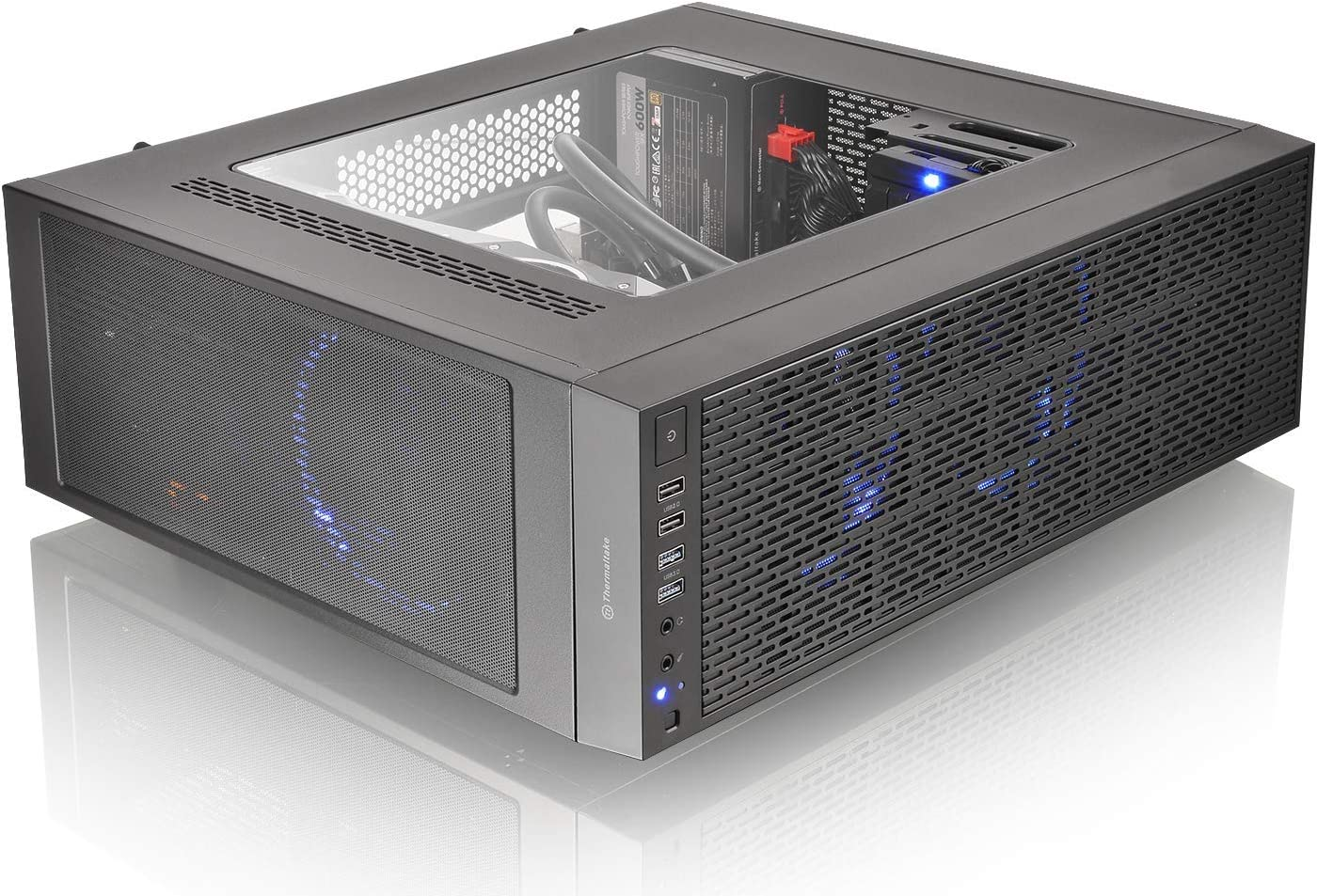 Thermaltake Core G3 ATX Slim Small Form Factor Tt LCS Certified Gaming Computer Case CA-1G6-00T1WN-00