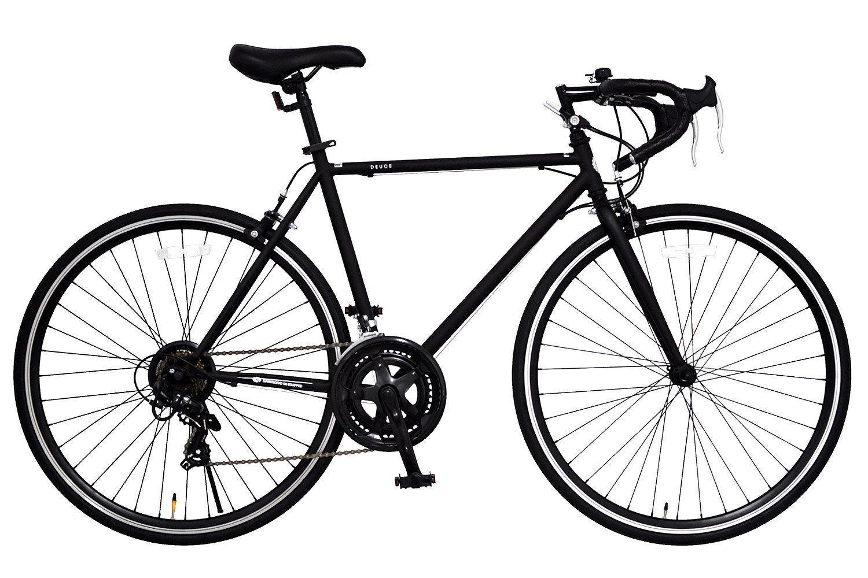 ANIMATO(アニマート) ロードバイク 700C シマノ14段変速 DEUCE 1年保証 B07DTGNP3H 510mm|マットブラック マットブラック 510mm