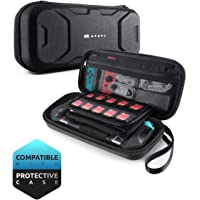 Mumba Nintendo Switch Carrying Case, [Plus Version] Protection Portable Protective Travel Carry Pouch for Blade/Battle Case [Large Capacity] (Black)