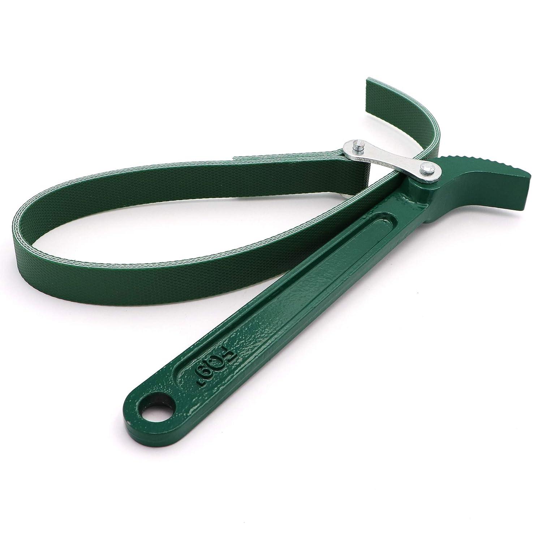 200mm Multi-Purpose Adjustable Belt Strap Wrench 7.8 Steel Handle Adjustable Strap Filter Opener Wrench