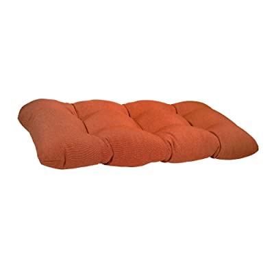 Suntastic O'Casa Indoor/Outdoor Rust Wicker Loveseat Bench Settee Chair Cushion for Patio Furniture: Home & Kitchen
