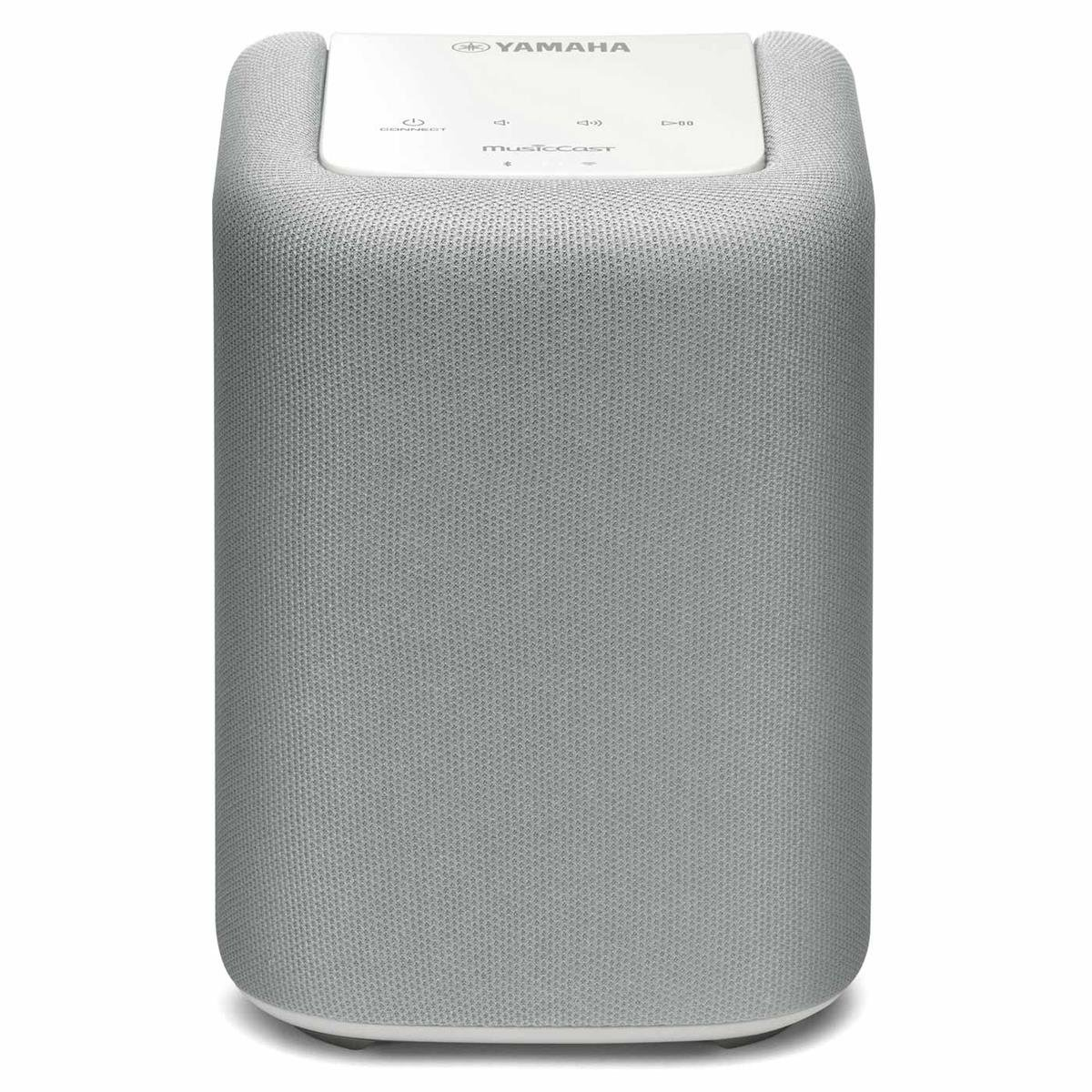 Yamaha MusicCast WX-010 Wireless Speaker with Bluetooth (White), Works with Alexa