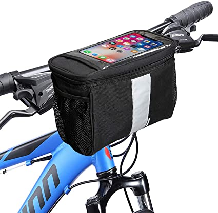 Waterproof Bicycle Handlebar Bags Bike Cycling Pouch Storage Case Basket for MTB