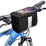 MATTISAM Bike Handlebar Bag, Bike Basket with   Mesh Pocket - Cold & Warm Insulation - Reflective Strap - Touchable…