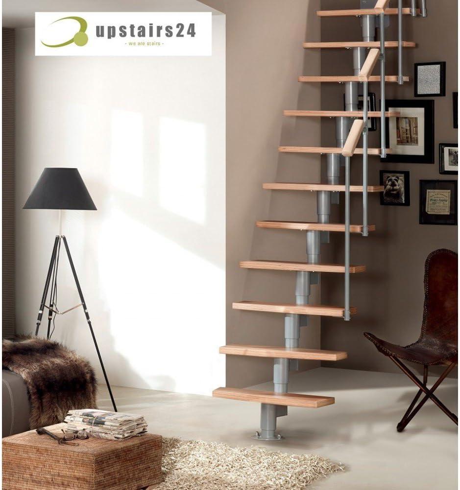 Escalera Modular Delta Premium, plateado: Amazon.es: Bricolaje y herramientas