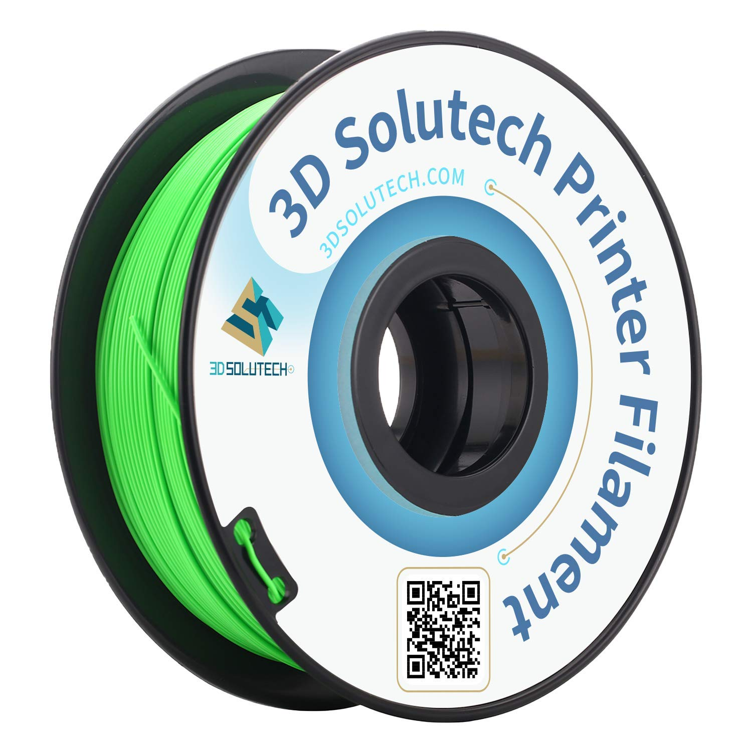 3D Solutech Apple Green 3D Printer PLA Filament 1.75MM Filament, Dimensional Accuracy +/- 0.03 mm, 2.2 LBS (1.0KG) - PLA175RGR