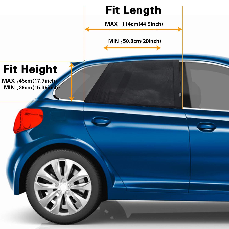 Car Window Shades PEYOU 2 Pcs Universal Double-layer Car Door Sun Shade Shield
