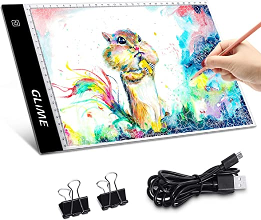 A4 LED Licht Box Zeichnung Pad Copy Board Pad Tattoo Sketch Kunst Foto USB Kabel