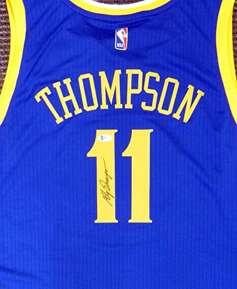 Golden State Warriors Klay Thompson Autographed Swingman Blue Jersey  Beckett BAS  F21097 7a302de42