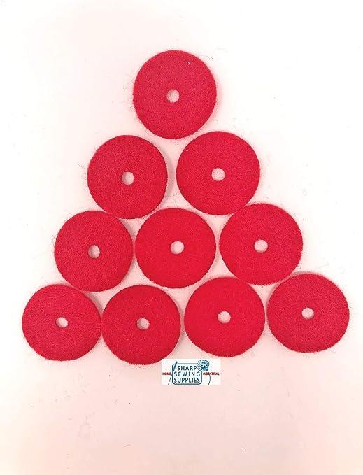 Sharp - Juego de 10 almohadillas de fieltro para máquina de coser ...