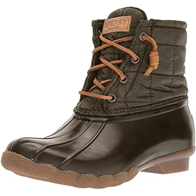 Sperry Women's Saltwater Shiny Quilted Rain Boot | Shoes
