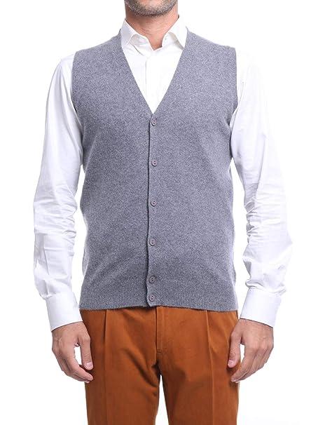Pullover Manica Lunga Maglione Invernale Cachemire Maglia 1st American Collo V da Uomo Cashmere e Seta