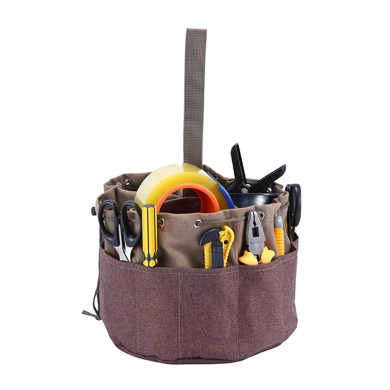Babimax Portaherramientas de jardiner/ía Portaherramientas Bolsa Oxford Bolsa de herramientas el/éctricas y de mantenimiento