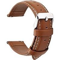 Fullmosa 14mm 16mm 18mm 19mm 20mm 22mm 24mm Bracelet Montre en Cuir Véritable, 12 Couleurs Axus Montre Bracelet à Dégagement Rapide
