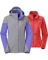 The North Face Women's Boundary Triclimate Jacket (Medium, Mid Grey/Starry Purple/Radiant Orange)