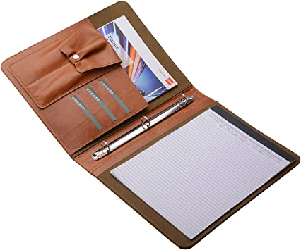 Amazon.com: portafolios portadocumentos de piel con 3 ...