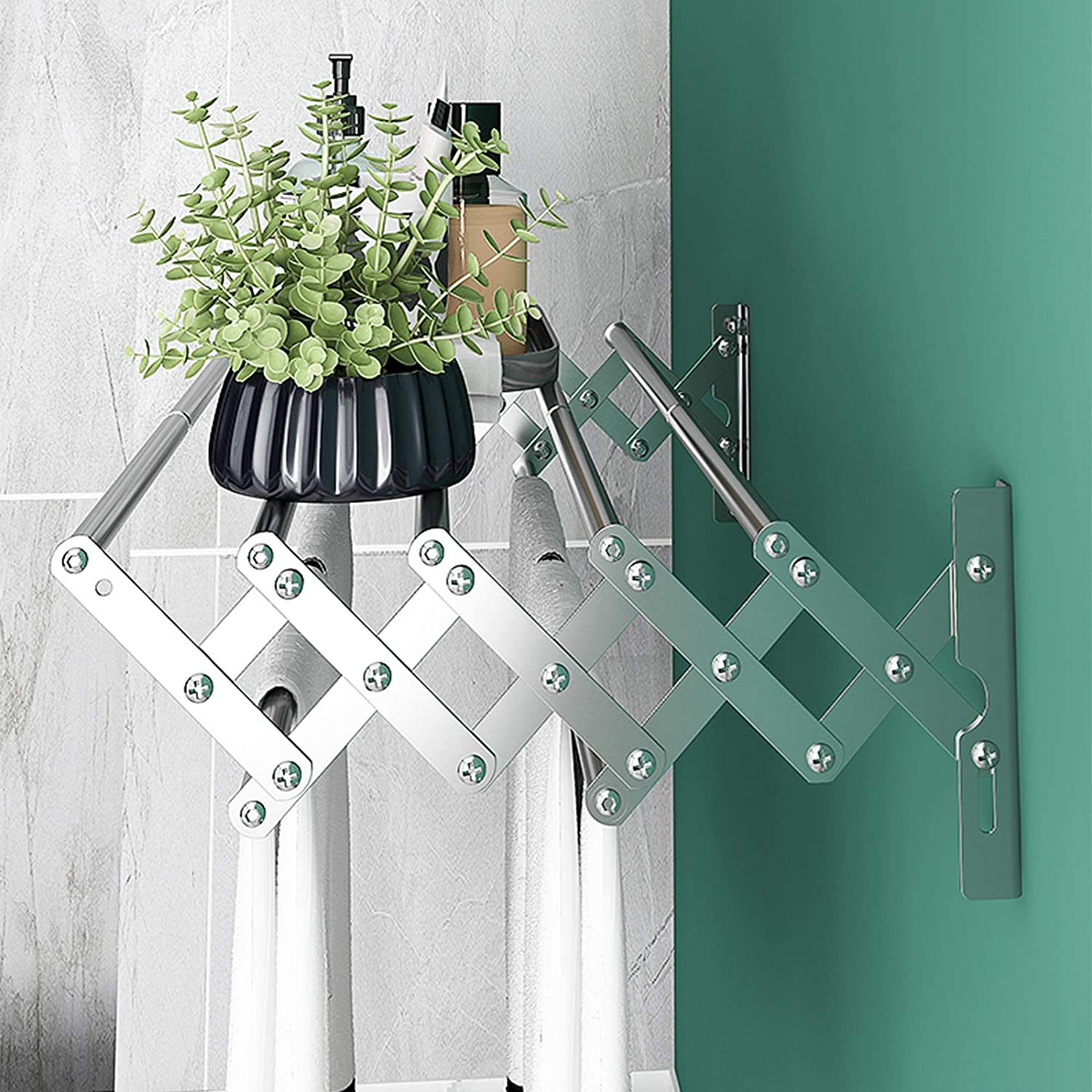 Qurutma Wall Mounted Clothes Drying Rack,Stainless Steel Accordion ...