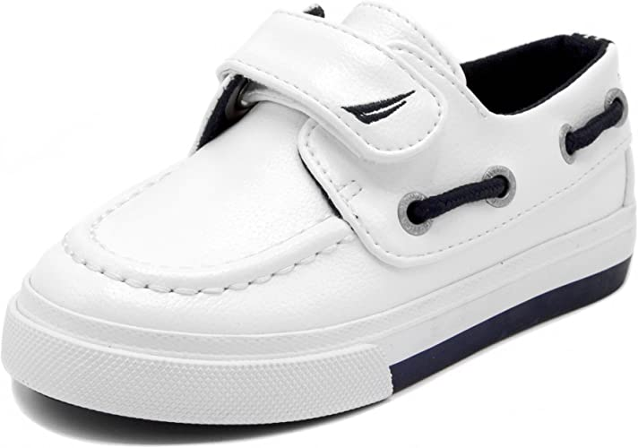 Baby Boys Toddler Leather Boat Shoes Casual Sneaker Loafer Toddler Size 3 to 8