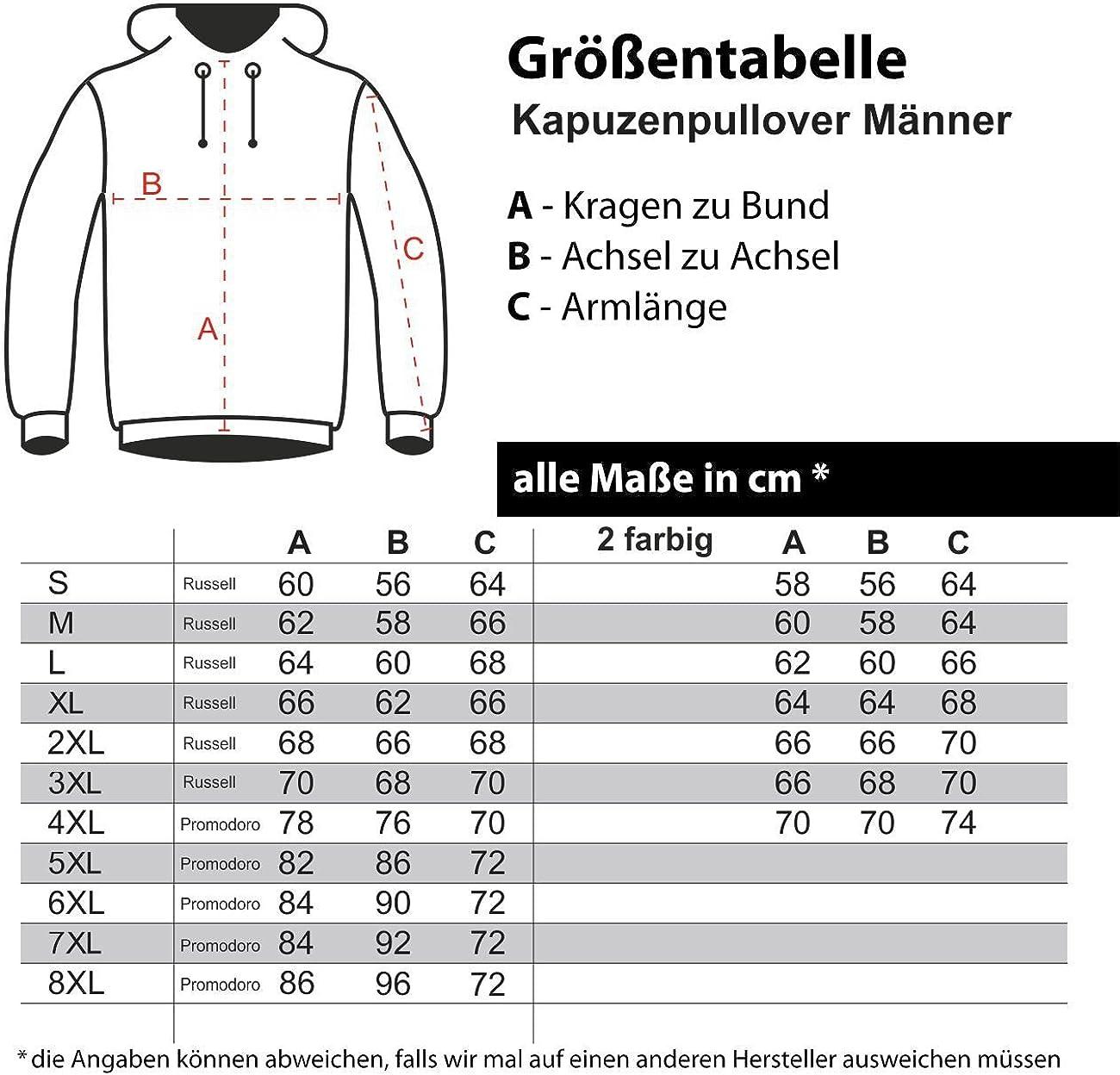 Spaß kostet Männer und Herren Kapuzenpullover Die Jungs fürs Grobe (mit Rückendruck) Kolben Größe S - 4XL Rot