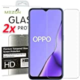 [2 Pack] MEZON Crystal Clear Premium 9H HD Tempered Glass Screen Protector for Oppo A9 2020 / A5 2020 – Case Friendly…
