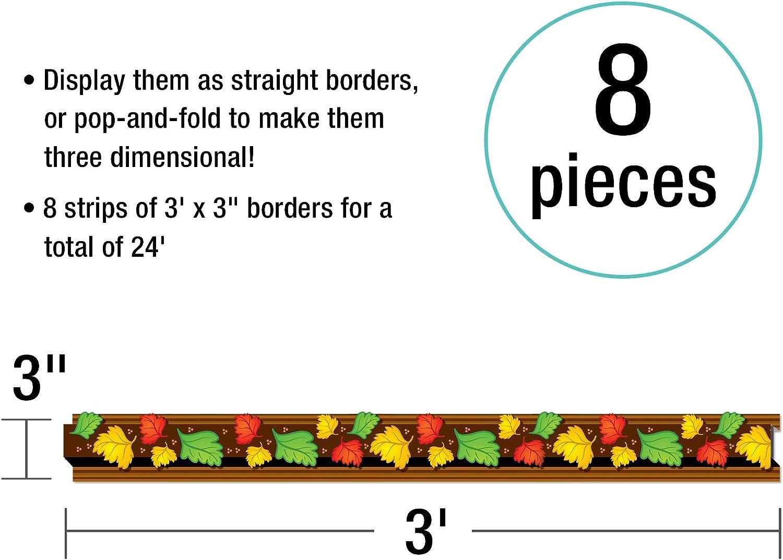 Autumn Leaves Pop Its Straight Borders 3d Fall Classroom Decor 8 Strips Carson Dellosa