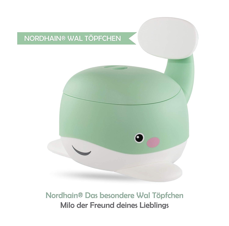 Nordhain Wal T/öpfchen Mint mit freundlichem Design rutschfeste Kinder Toilette 1-6 j/ährige Kinder hochwertiger Toilettentrainer Mint