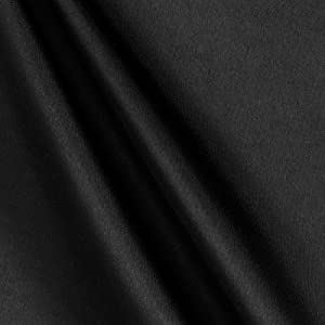 Richland Textiles Poly Charmeuse Satin Fabric, Black, Fabric by the yard