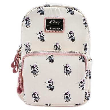 Amazon.com  Loungefly x Minnie AOP Satin Backpack  Clothing 254514755fa9b