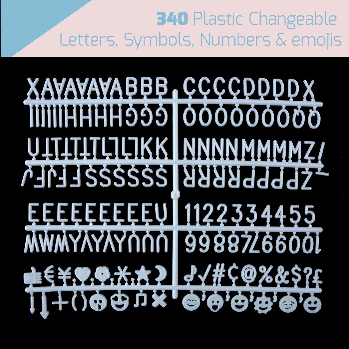 Amazon Felt Letter Board With 340 Plastic Changeable Letters