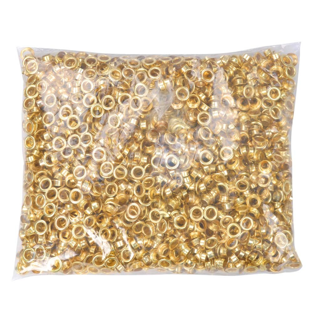 2000pcs 1/4'' #0 Grommet Machine Grommets Machine Grommets & Washers Brass Eyelet Die for Posters Tags Signs Bags