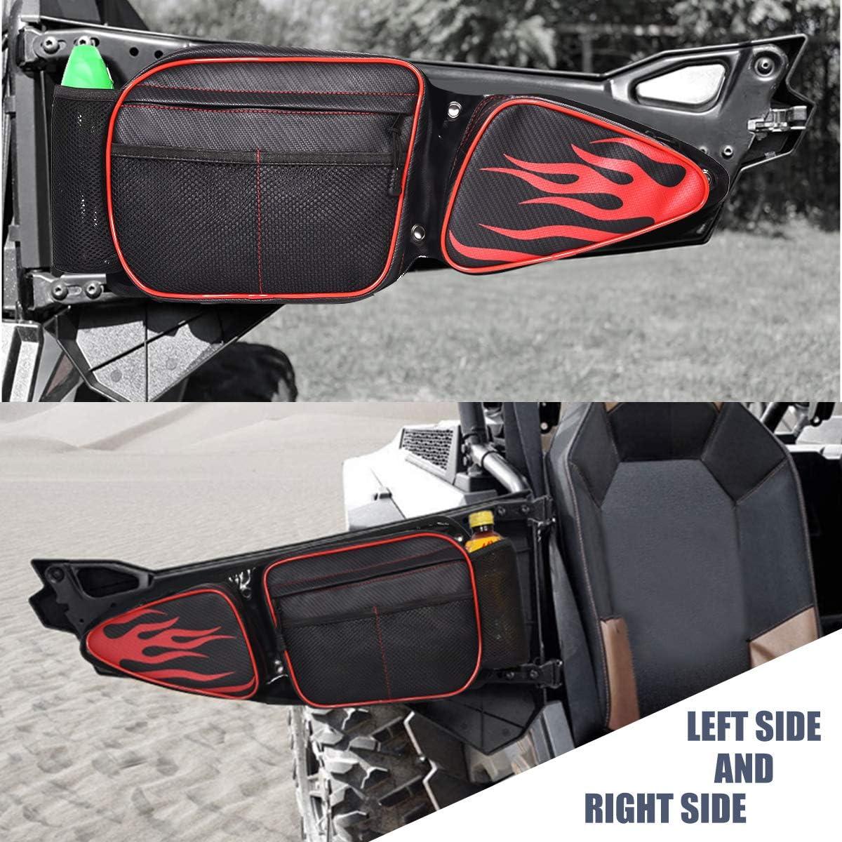 RZR Side Door Bags,UTV Front Door Side Storage Bag Set with Knee Pad for 2014 2015 2016 2017 2018 2019 2020 Polaris RZR XP Turbo Turbo S 1000 S900 RZR XP4 1000
