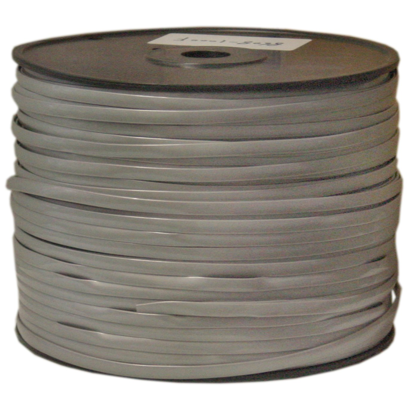 CableWholesale Bulk Phone Cord, Silver Satin, 28/8 (28 AWG 8 Conductor), Spool, 1000 foot