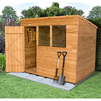 Forest Garden - Cobertizo de jardín 8 x 6 – Tratamiento de impregnación