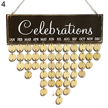 Amazon.com: Buyanputra Family Birthday Reminder Wooden Board DIY ...