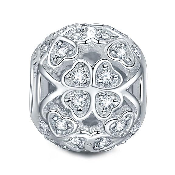 91 opinioni per NinaQueen- Quadrifoglio- Charms Bead da donna argento sterling 925