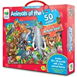 The Learning Journey: Jumbo Floor Puzzles - Animals of The World - Extra Large Puzzle Measures 3 ft by 2 ft