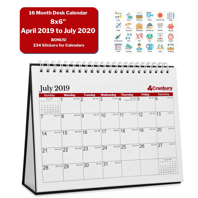 Cmu Academic Calendar.Small Desk Calendar 2019 2020 Academic Calendar 8x6 Ruby Red 16