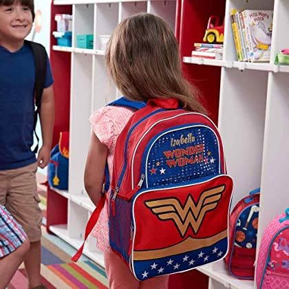 6a183a076699 ... Personalized Superhero Backpacks (Personalized Wonder Woman Backpack   Lunch  Box Combo) ...