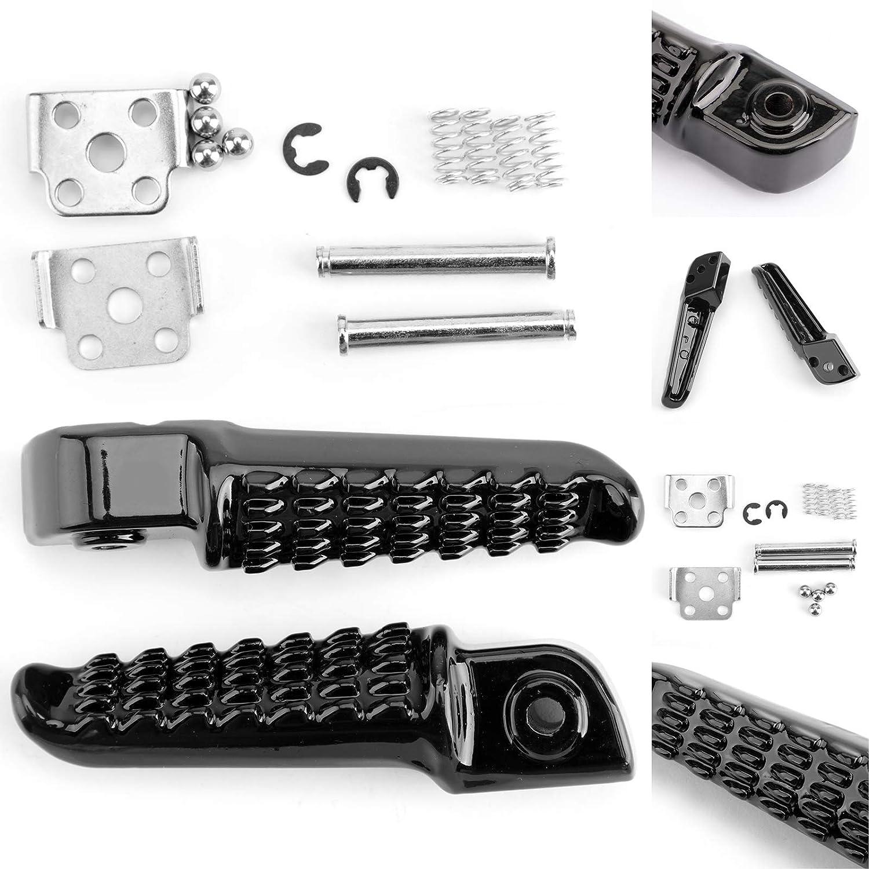 Artudatech Rear Foot Peg Footrest For Kawasaki EX250 EX300 NINJA 250 300 ZX14 ZZR1200 Black