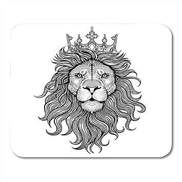 Alfombrilla para ratón, Corona, Blanco y negro, Tatuaje, Rey León ...