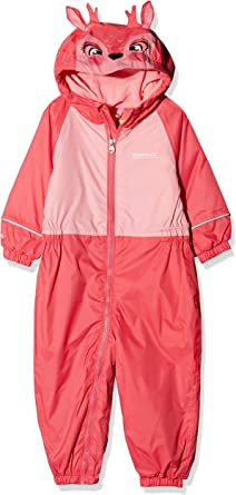 Regatta Kids Mudplay III Waterproof And Breathable Insulated Animal All-In-One Suit